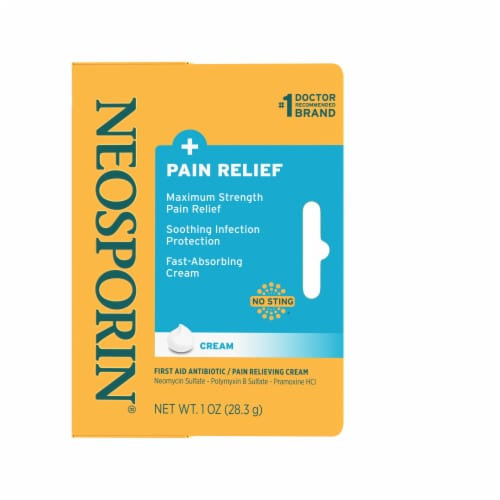 Neosporin Infection Protection and Max Pain Relief Cream Perspective: front