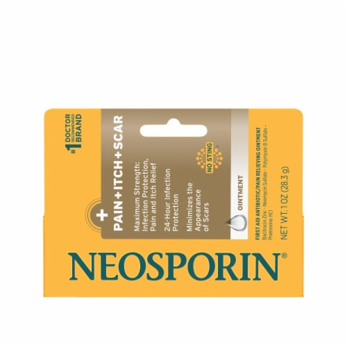 Neosporin Multi-Action Pain Itch Scar Ointment Perspective: front