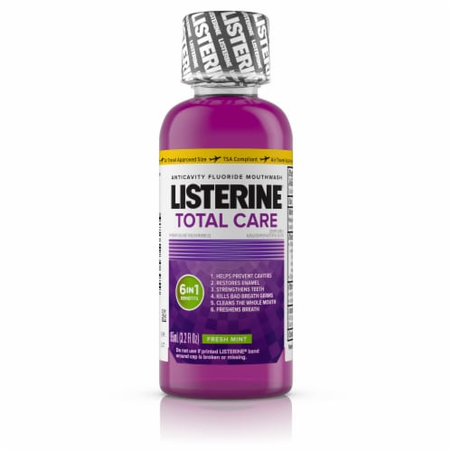 Listerine Total Care Fresh Mint Mouthwash Perspective: front