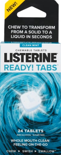 Listerine Clean Mint Ready! Tabs Perspective: front