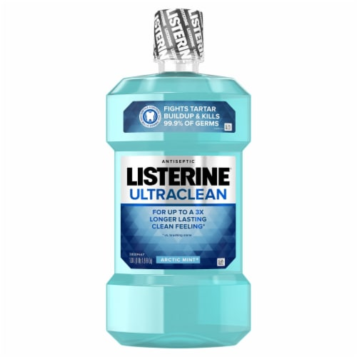 Listerine Ultraclean Arctic Mint Antiseptic Mouthwash Perspective: front