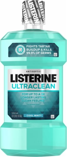 Listerine Ultraclean Cool Mint Mouthwash Perspective: front