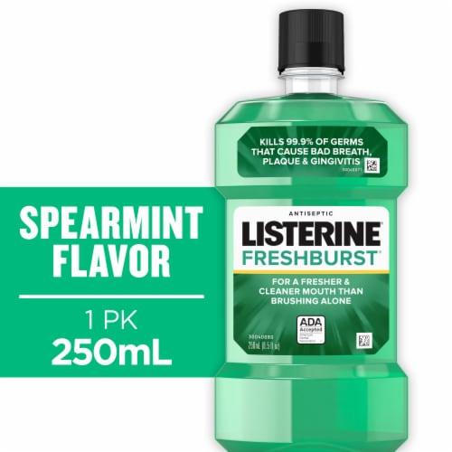 Listerine Fresh Burst Antiseptic Mouthwash Bottle Perspective: front
