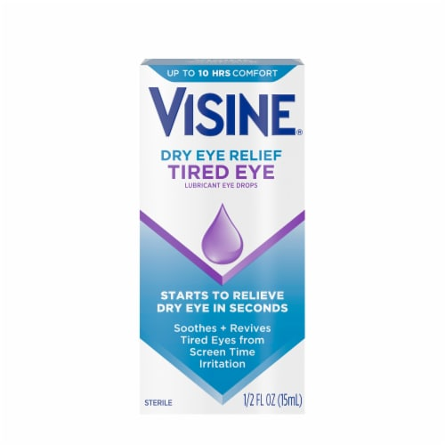 Visine Tired-Dry Eye Relief Lubricant Eye Drops Perspective: front
