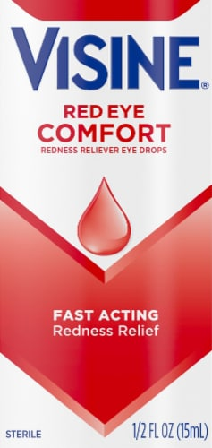 Visine Red Eye Comfort Redness Reliever Eye Drops Perspective: front