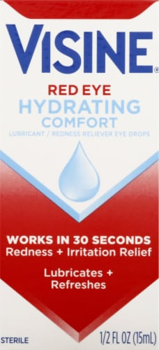 Visine Hydrating Comfort Redness Eye Drops Perspective: front