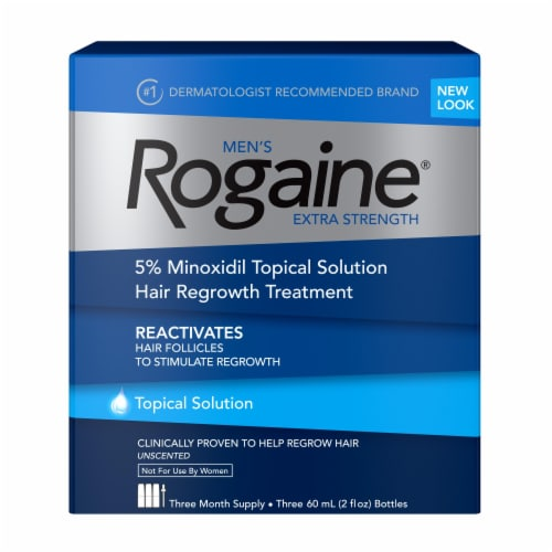 Rogaine Mens Extra Strength Hair Regrowth Treatment Perspective: front