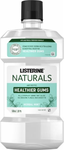 Listerine Naturals Herbal Mint Antiseptic Gum Restore Mouthwash Perspective: front