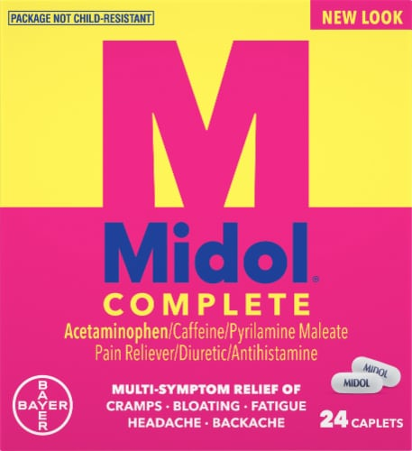 Midol Complete Multi-Symptom Relief Caplets Perspective: front