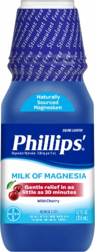 Phillips' Milk of Magnesia Wild Cherry Flavor Liquid Perspective: front