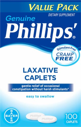 Phillips'  Laxative Caplets Perspective: front