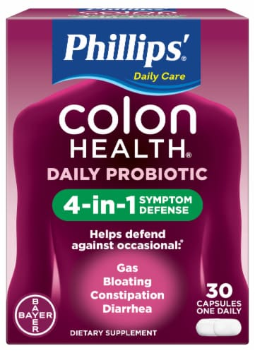 Phillips Colon Health Daily Probiotic Capsules Perspective: front