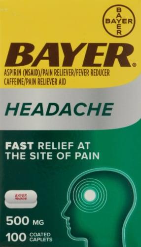 Bayer Headache Aspirin 500mg Perspective: front