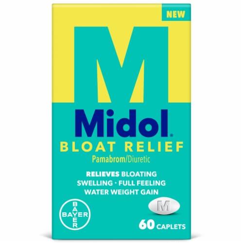 Midol Bloat Relief Caplets Perspective: front