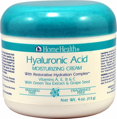 Home Health  Hyaluronic Acid Moisturizing Cream Fragrance Free Perspective: front