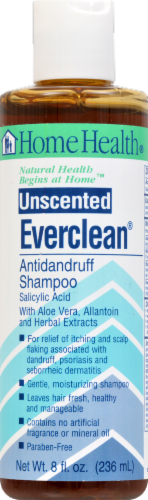 Home Health Unscented Everclean Antidandruff Shampoo Perspective: front