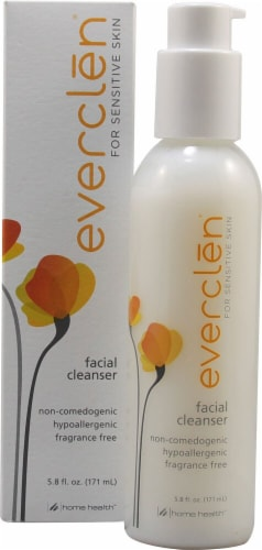 Everclen  Facial Cleanser Fragrance Free Perspective: front