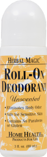 Herbal Magic Unscented Roll-On Deodorant Perspective: front