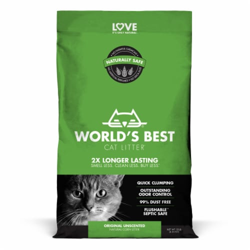 World's Best Clumping Formula Cat Litter Perspective: front