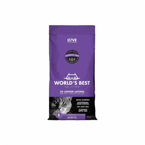 Kent Pet Group WB00166 Multi Worlds Best Cat Litter, Lavendar - 8 lbs Perspective: front
