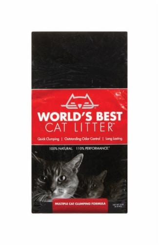 World's Best Cat Litter Natural Scent Cat Litter 14 lb. - Case Of: 1; Perspective: front