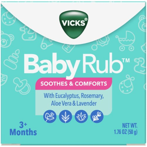 Vicks BabyRub Soothing Ointment Perspective: front