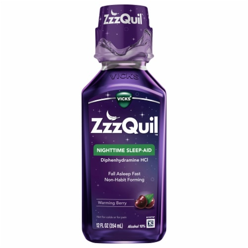 Vicks ZzzQuil Warming Berry Nighttime Sleep-Aid Liquid Perspective: front