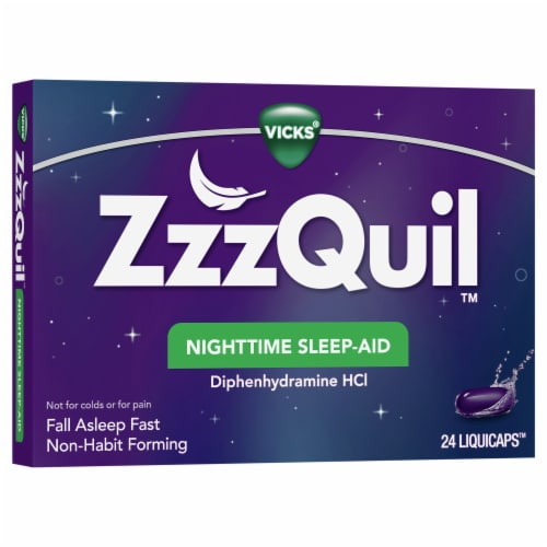 Vicks® ZzzQuil™ Nighttime Sleep-Aid LiquiCaps Perspective: front