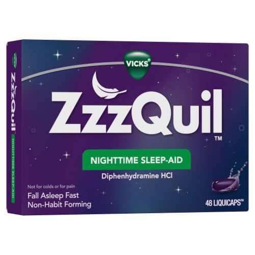 ZzzQuil Nighttime Sleep-Aid LiquiCaps Perspective: front