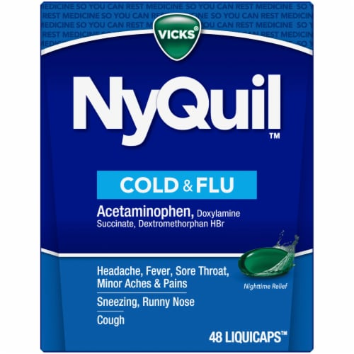 Vicks NyQuil Cold & Flu LiquiCaps Perspective: front