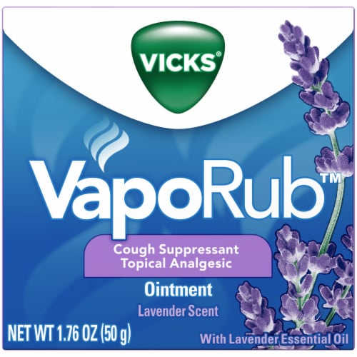 Vicks VapoRub Lavender Scented Chest Rub Ointment with Original Medicated Vicks Vapors Perspective: front