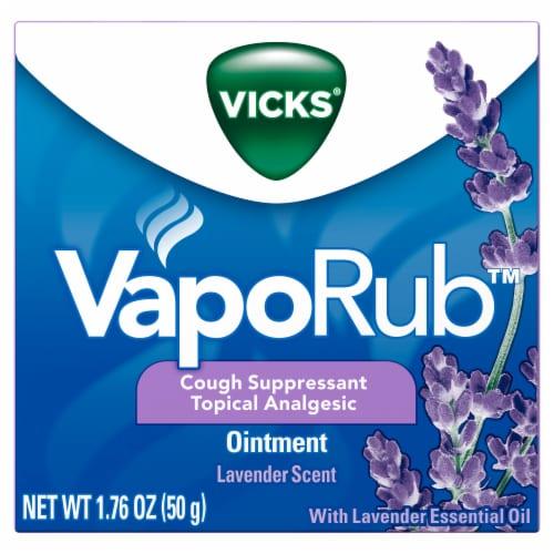 Vicks VapoRub Lavender Ointment Cough Suppressant Perspective: front