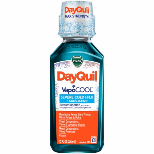 DayQuil Severe VapoCOOL Cold & Flu Relief Liquid Perspective: front