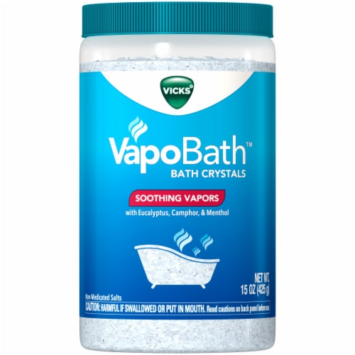 Vicks Vapo Bath Crystals Perspective: front