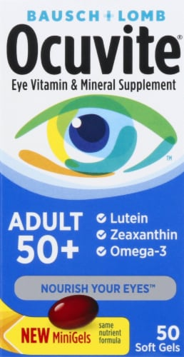 Ocuvite Adult 50 Plus Eye Vitamin Soft Gels Perspective: front