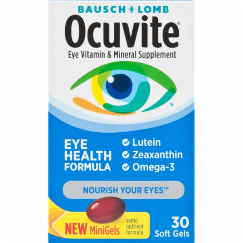 Bausch & Lomb Ocuvite Eye Health Formula Soft Gels Perspective: front