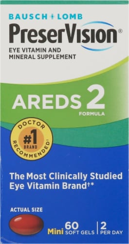 PreserVision Areds 2 Formula Eye Vitamin & Mineral Supplement Perspective: front