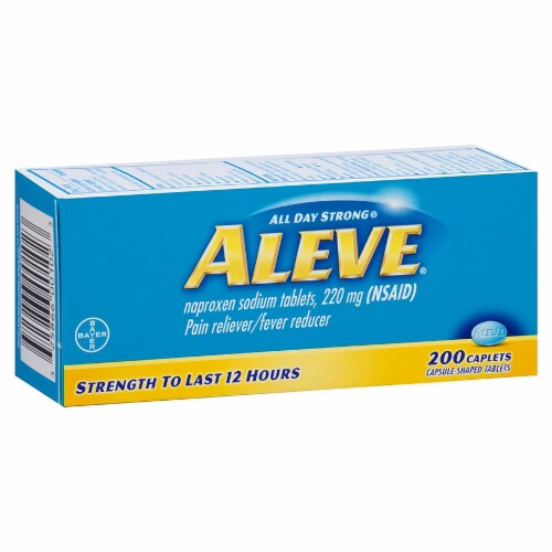 Aleve Caplets 220mg Perspective: front