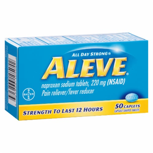 Aleve Caplets 220 mg Perspective: front