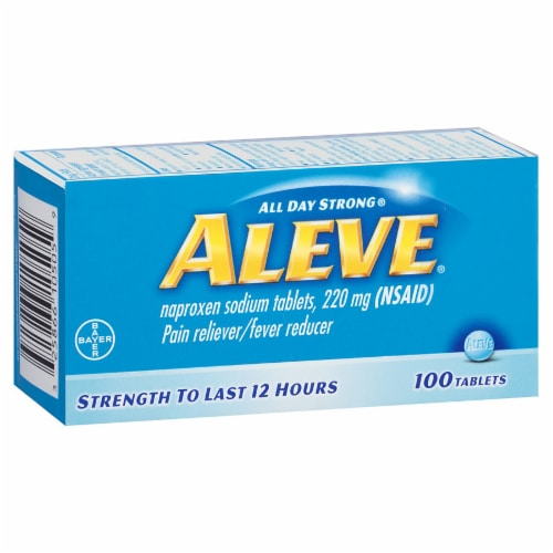 Aleve 22mg Naproxen Sodium Tablets Perspective: front