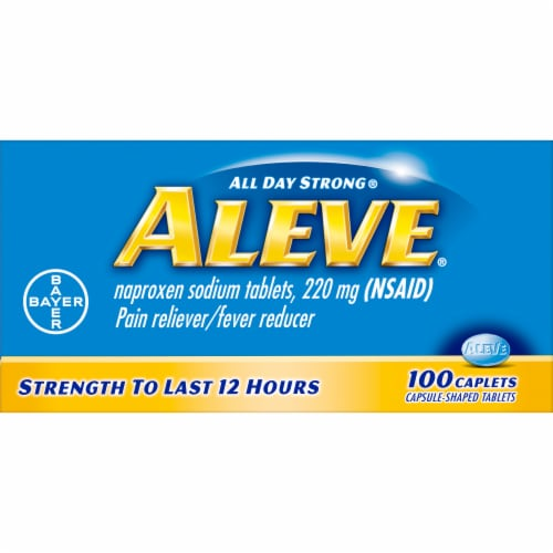 Aleve Naproxen Sodium 220mg Caplets Perspective: front