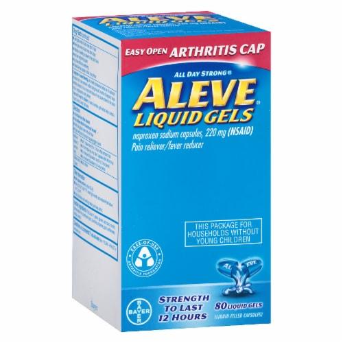 Aleve Arthritis Naproxen Sodium Liqui-Gels 220mg Perspective: front