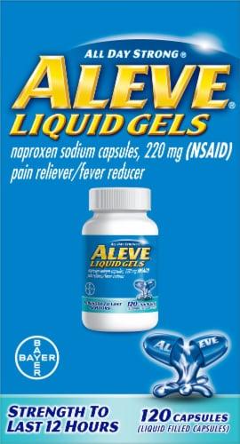Aleve Liquid Gels 220mg Perspective: front