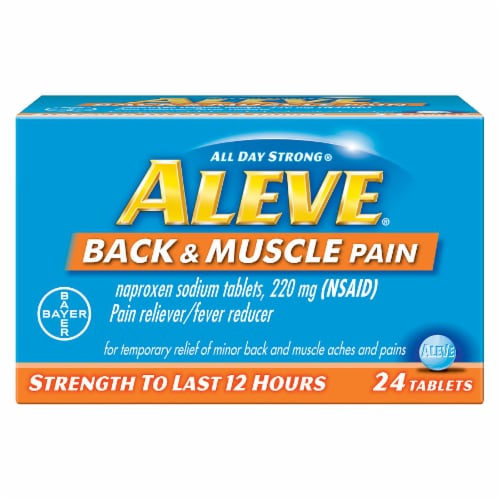Aleve All Day Strong Back & Muscle Pain Relief Tablets 24 Count Perspective: front
