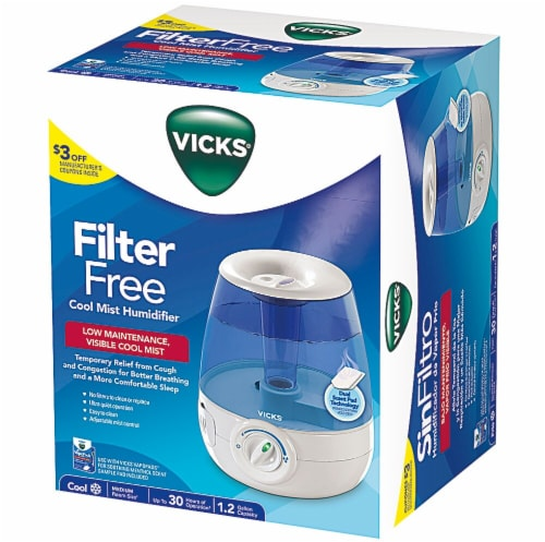 Vicks Filter Free Cool Mist Humidifier Perspective: front