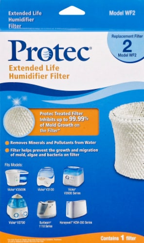 Protec Extended Life Humidifier Filter Perspective: front