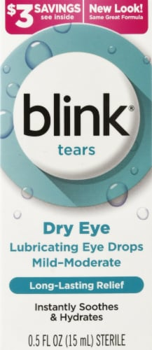 Blink Tears Lubricating Eye Drops Perspective: front