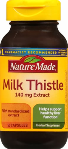 Nature Made Milk Thistle Capsules 140mg Perspective: front