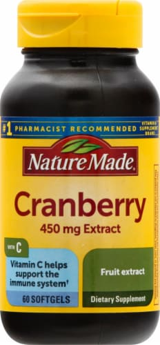 Nature Made Cranberry Extract Softgels 450mg Perspective: front