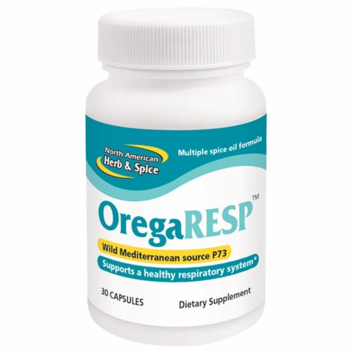 North American Herb & Spice  OregaRESP™ Dietary Supplement Perspective: front